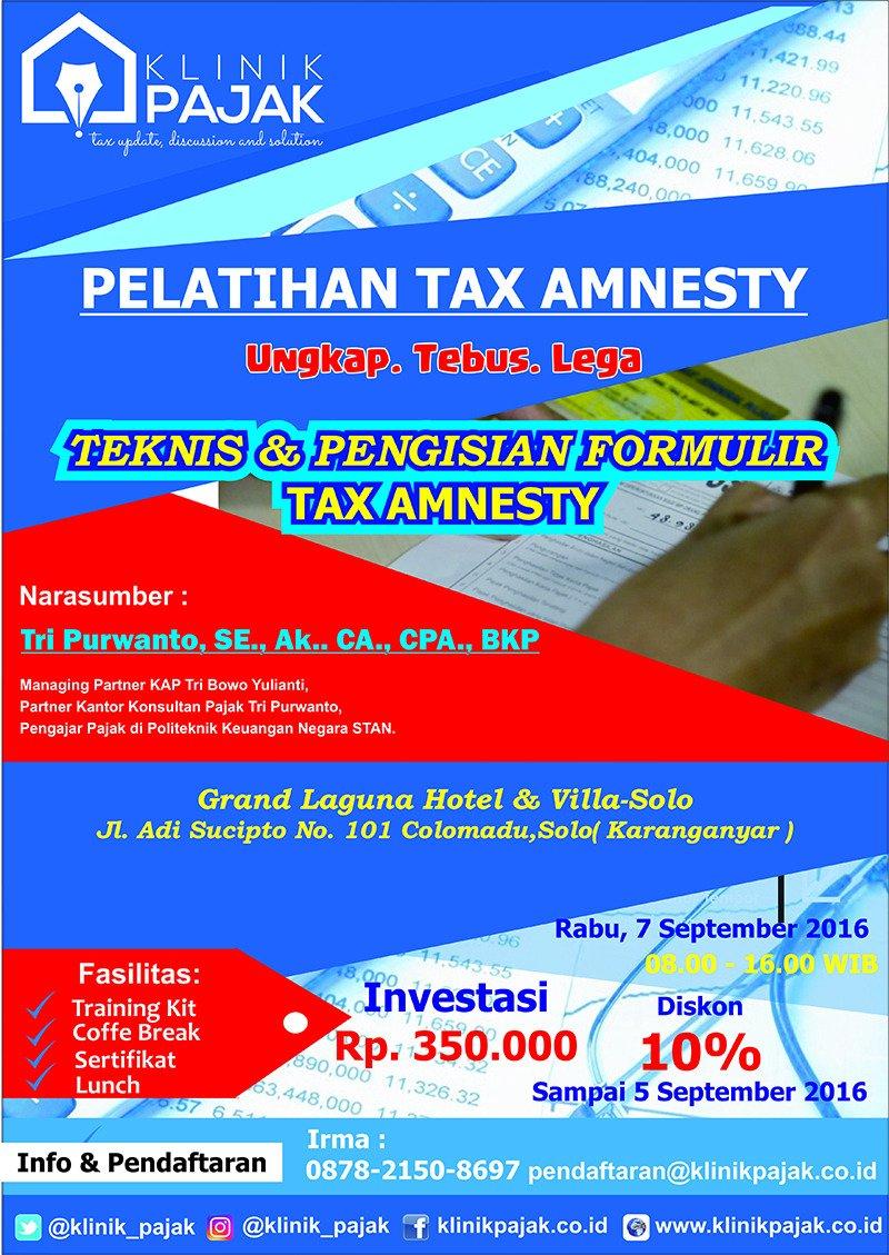 Workshop Tax Amnesty 7 September 2016