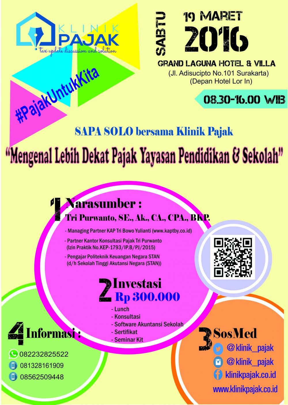 SAPA SOLO #2 - Mengenal Lebih Dekat Pajak Yayasan Pendidikan & Sekolah
